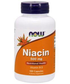 Niatsiin niacin Vitamiin B3 now foods - fit360.ee