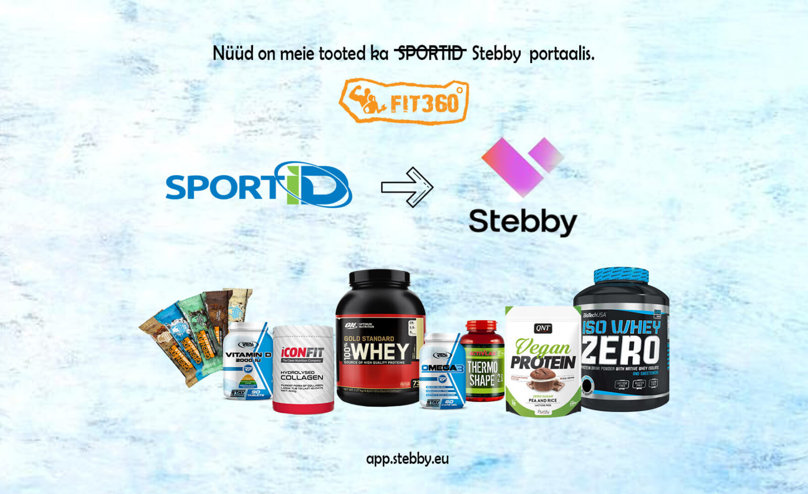 Toidulisandid kollageen stebby sportid proteiinipulber - fit360.ee