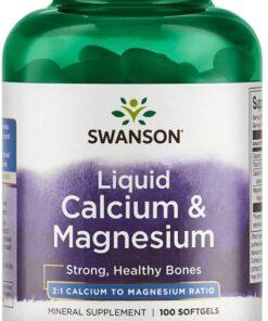 Kaltsium Magneesium geelkapslid Swanson - fit360.ee
