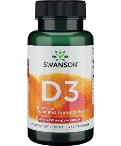 Swanson Vitamin D3 Vitamiin D - fit360.ee