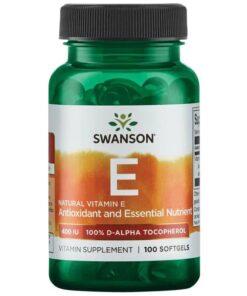 E Vitamiin Swanson 60 caps - fit360.ee