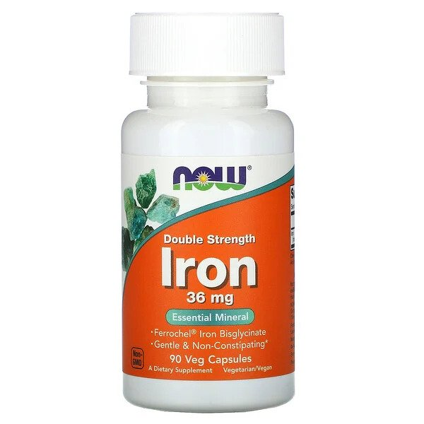 now foods Raud Iron 36mg 90vcaps - fit360.ee